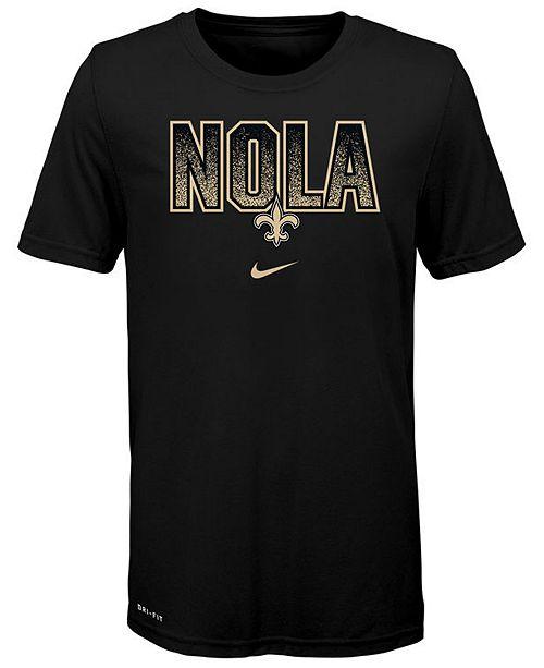 Nike Big Boys New Orleans Saints Local Verbiage T-Shirt