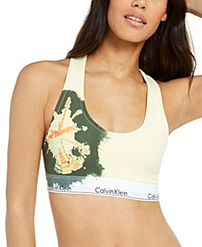 Women's Modern Cotton Unlined Tie-Dye Bralette QF60581