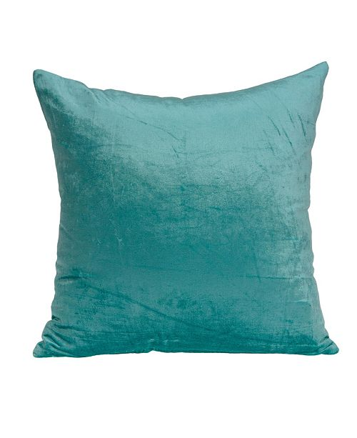 Parkland Collection Camila Transitional Aqua Solid Pillow Cover with Polyester Insert