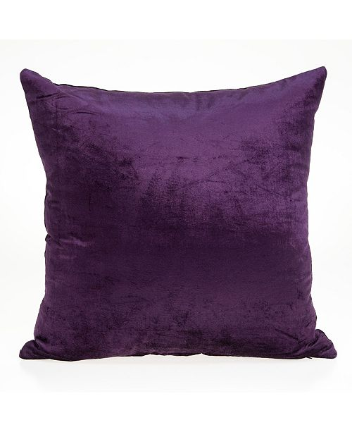 Parkland Collection Alba Transitional Purple Solid Pillow Cover With Down Insert