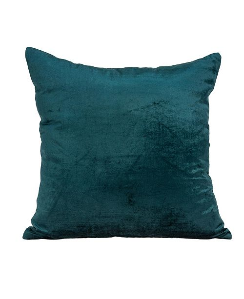 Parkland Collection Bento Transitional Teal Solid Pillow Cover With Down Insert