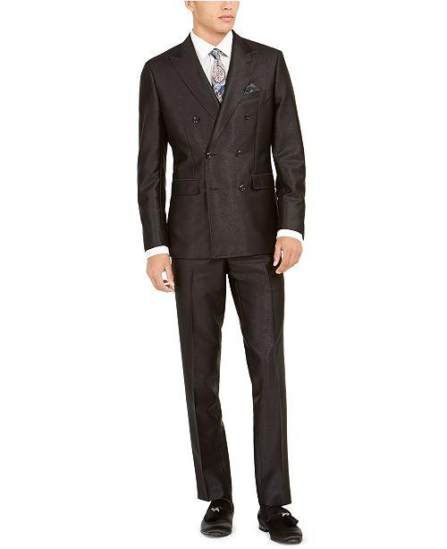 Tallia  Men's Slim-Fit Double-Breasted Suit Separates