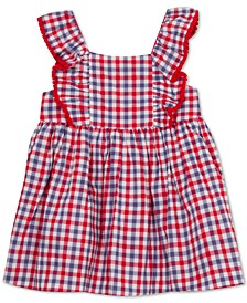 Baby Girls Ruffle Gingham Dress