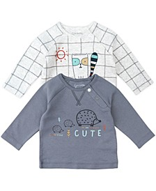 Baby Boy and Girl 2-Pack Raglan Tees