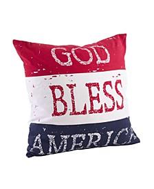 "God Bless America Throw Pillow, 20"" x 20"""