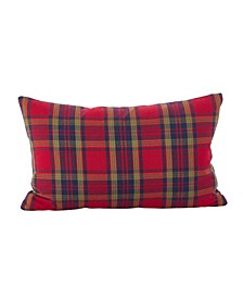"Classic Tartan Plaid Pattern Holiday Cotton Throw Pillow, 12"" x 20"""