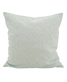 "Swirled Stitched Throw Pillow, 18"" x 18"""