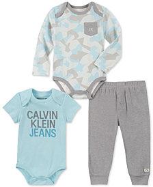 Calvin Klein Baby Boys 3-Pc. Bodysuits & Jogger Pants Set