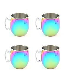 Rainbow Moscow Mule Mugs, Set of 4