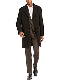 Men's Malibu Slim-Fit Black Overcoat