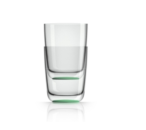 Marc Newson by Palm Tritan Highball Tumbler with Green non-slip base, Set of 2
