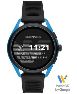 Emporio-Armani-Mens-Black-Silicone-Strap-Touchscreen-Smart-Watch-45mm