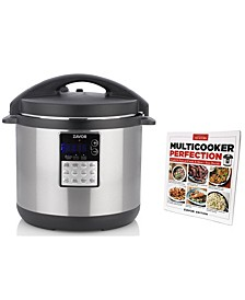 LUX Edge 8-Qt. Multi-Cooker with Americas Test Kitchen Multi-Cooker Perfection Cookbook
