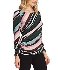 Striped Cinch-Side Top