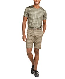 Men's Printed Stretch T-Shirt & Shorts