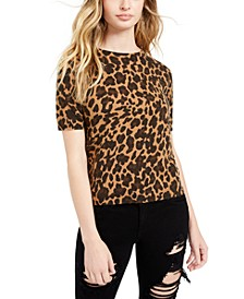Fitted Animal Print Top