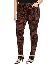 INC Plus Size Printed 5-Pocket Pants, Created For Macy's