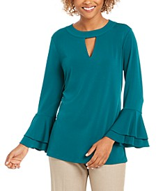 Bell-Sleeve Keyhole Top, Created for Macy's