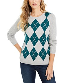 Argyle Crewneck Sweater, Created For Macy's