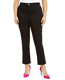 Seven7 Plus Size High-Rise Slim-Straight Jeans