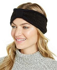 Knit and Faux-Sherpa Loop Headband