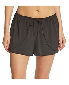 Solid Drawstring Wrap Short