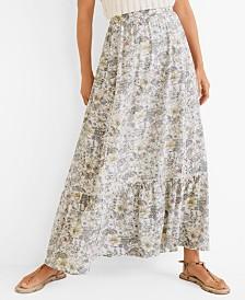 Mango Printed Modal Skirt
