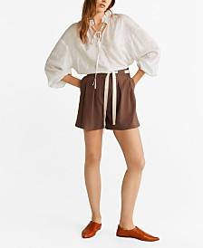 Mango High-Waist Shorts