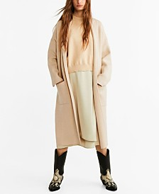 Mango Knitted Unstructured Coat