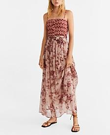 Mango Floral Chiffon Skirt