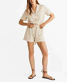 Camp-Collar Romper