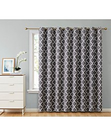 Obscura by Bunbury Lattice Print Blackout Grommet Patio Door Panel - 100 W x 84 L