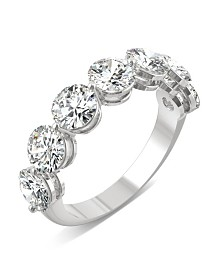 Moissanite Seven Stone Band 3-1/2 ct. t.w. Diamond Equivalent in 14k White Gold