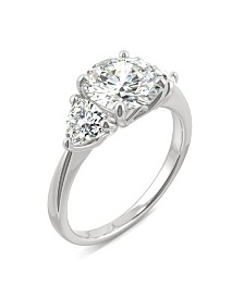Moissanite Three Stone Ring 2-3/4 ct. t.w. Diamond Equivalent in 14k White Gold