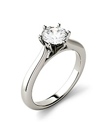 Moissanite Solitaire Engagement Ring 1/2 ct. t.w. Diamond Equivalent in 14k White Gold