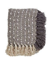 Nubby Design Fringed Throw