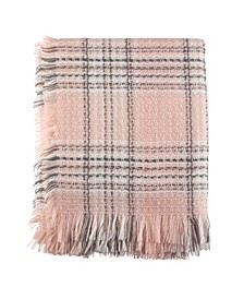 Fringe Hem Plaid Throw