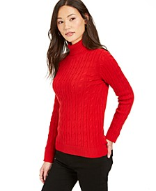Cable Turtleneck Sweater, Created For Macy's