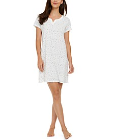 Women's Cotton Knit Printed Sleepshirt Nightgown, Created for Macy's