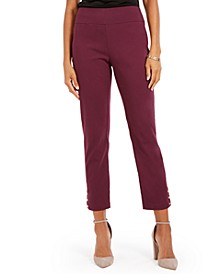 Petite Straight Leg Pull-On Pants