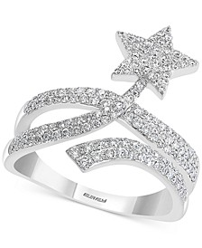 EFFY® Diamond Pavé Shooting Star Statement Ring (5/8 ct. t.w.) in 14k White Gold