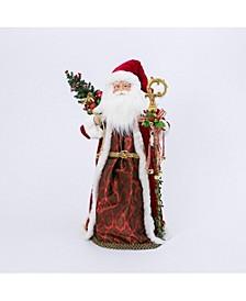 36-Inch High Polyester Traditional Santa Figurine
