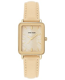 Women's Tan Leather Strap Watch 26x32mm