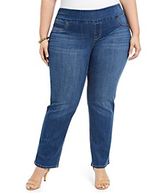 Plus Size Ella Straight-Leg Jeans, Created For Macy's