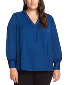 Vince Camuto Plus Size Studded Top