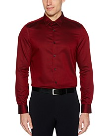 Men's Slim-Fit Spill-Resistant Dobby Shirt