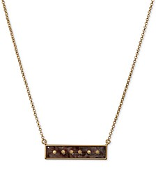"Gold-Tone & Acetate Studded Bar Pendant Necklace, 17-1/2"" + 2"" extender"