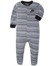 Baby Boys Striped Footed Coverall