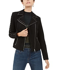 INC Suede Studded Moto Jacket, Created For Macy's
