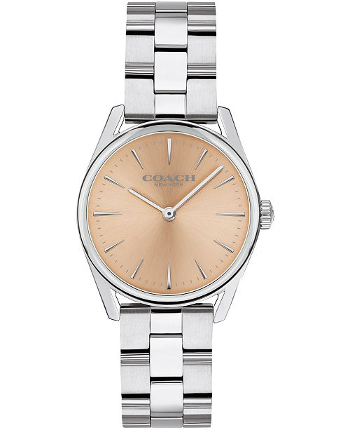 COACH Women's Preston Stainless Steel Bracelet Watch, 28MM